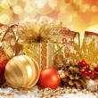 Christmas decoration. vintage background. — Foto de Stock