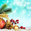 Christmas decoration. vintage background. - Stok fotoraf