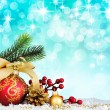 Christmas decoration. vintage background. — 图库照片