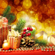Christmas fir tree with gifts — Stock Photo #5137381