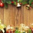 Christmas fir tree with gifts — ストック写真