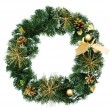 Royalty-Free Stock Photo: Christmas wreath isolated