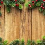 árvore de Natal na placa de madeira — Foto Stock
