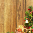Christmas fir tree with christmas decoration — ストック写真