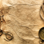 Kompass, Seil, Gläser und Altpapier — Stockfoto