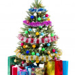 Christmas Tree and Gifts. Over white background — Stock Photo #5139028