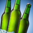Stock Photo: Beer Bottle with water drops on the white
