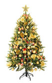 Christmas Tree and Gifts. Over white background — Stok fotoğraf