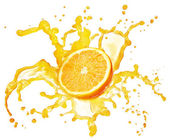Orange juice splash isolated — Stock Photo