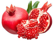 Pomegranate isolated on a white — Stock Photo