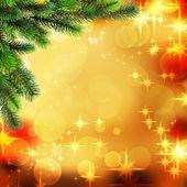 Vánoční strom na starý papír — Stock fotografie