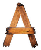 One letter of wooden alphabet — Stock Photo