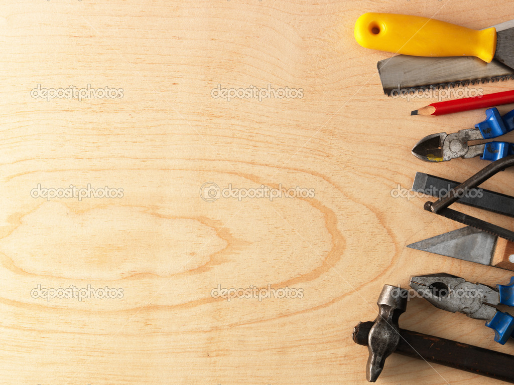 House Builder Tool Tools On A Wooden Background Stock Photo 169 Irochka 5130973