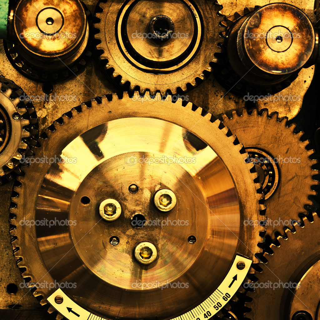 Close up view of gears from old mechanism  — Stock Photo #5135981