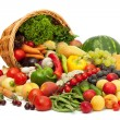 Fresh Vegetables, Fruits and other foodstuffs. - 图库照片