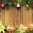 Christmas fir tree with gifts — 图库照片