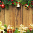 Christmas fir tree with gifts — Stockfoto