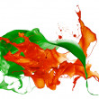 Isolated shot of paint splashing — Stock Photo
