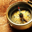 Compass on vintage paper — Stock Photo #5145827