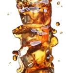 Cola with ice alphabet — Stock Photo