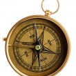 Vintage compass isolated on white — Stock Photo