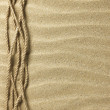 Rope on sand — Stock Photo