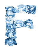 Alphabet made out of ice — Stock Photo