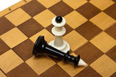 Chess and board — Foto Stock
