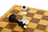 Chess and board — Stock Photo