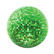 Disco sphere green — Stock Vector
