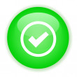 Green signle checked button — Wektor stockowy #3913156