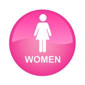 Pembe signle kadın — Stok Vektör
