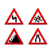 Signs traffic — Stock Vector