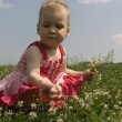 Baby in grass 2 — Stock Photo