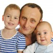 Grandfather with grandchildren - Stock Photo