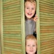 Stock Photo: Children from closet
