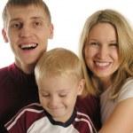 Family of three isolated 2 — Stock Photo #3537974