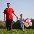 Father with son and balloon — Stock Photo #3537989