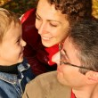 Stock Photo: Autumn family faces
