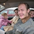 Family in car — Stock Photo #3538212
