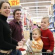 Moving family in shop — Stock Photo #3538241