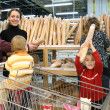 Family in bread shop - Stock Photo