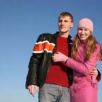 Winter couple 3 — Stock Photo