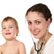 Doctor with baby — Stock Photo