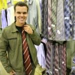 Man buy tie — Stock Photo #3538933