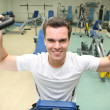 Gym man in health club - Stock Photo