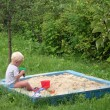 Kid in playpit — Stock Photo