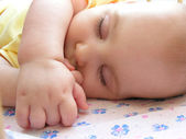 Baby sleep — Stock Photo