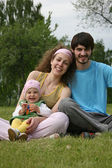Family with baby — Stock Photo