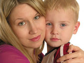Mother with child closeup — Stock Photo